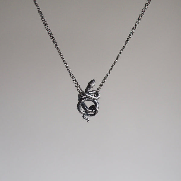 Snake 1 Necklace (tail down)