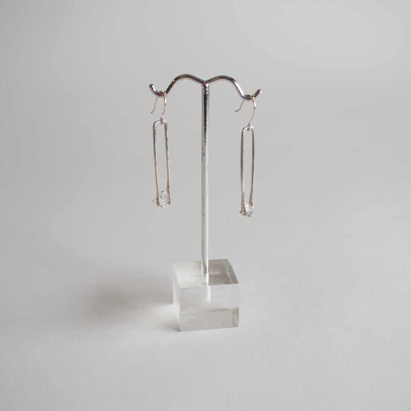 Herkimer Drop Earrings - Sterling Silver