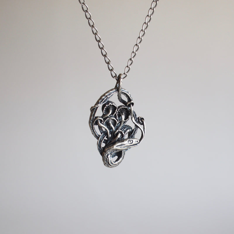 Snake and Mushroom Necklace