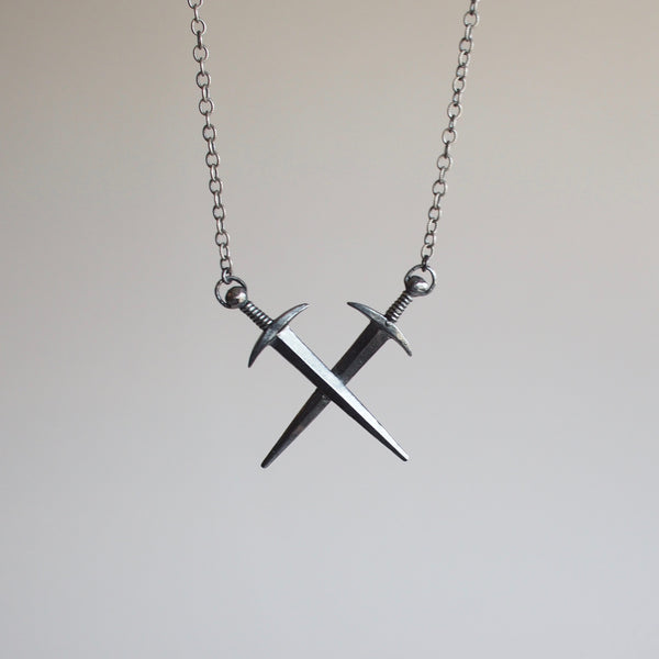 Crossed Swords Necklace