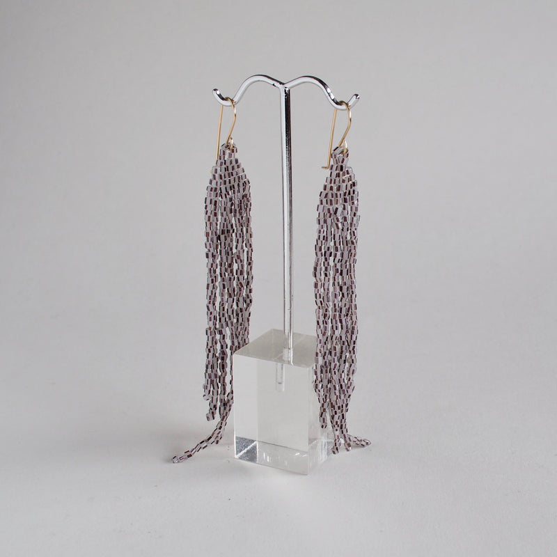 Speckled Feather Dangler Earrings