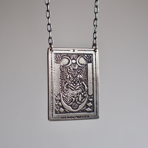 Tarot Card Pendant Necklace- The High Priestess
