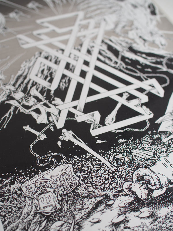 Skeleton Mountain Screenprint