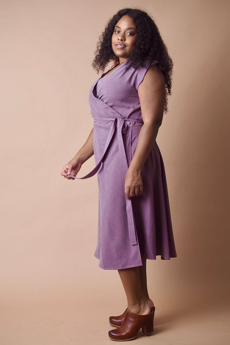 Lavender Wrap Dress