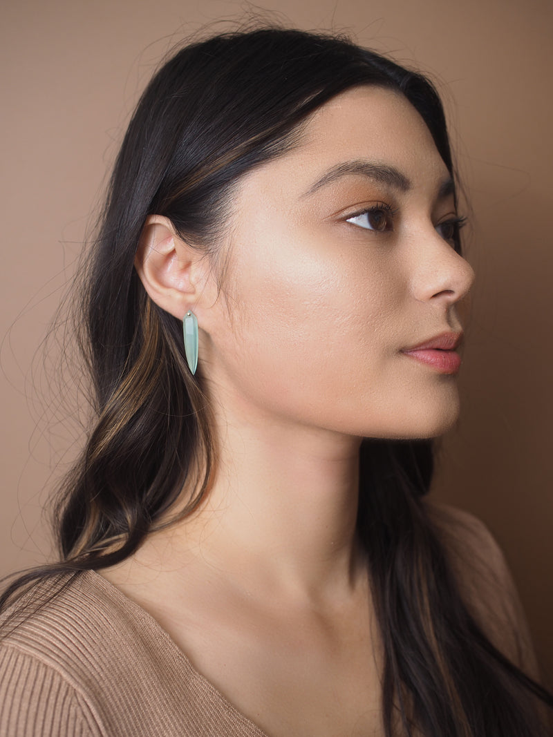 Aqua Spear Earrings