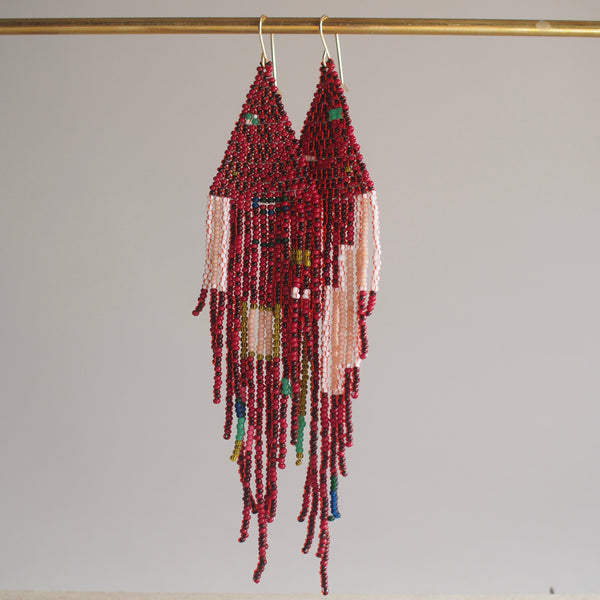 Extra Long Fringe Dangler Earrings