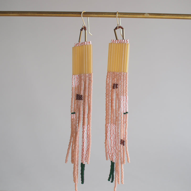 Dangler Earrings with Long Beads