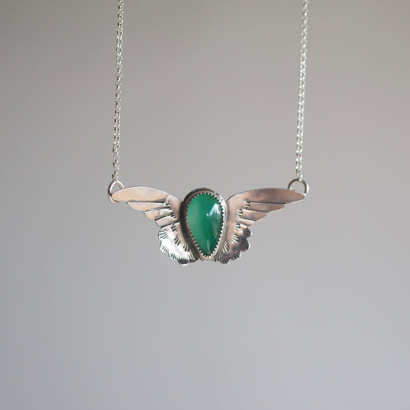 Small Harpy Necklace with Stone