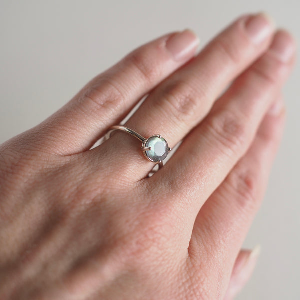 7MM Labradorite Ring