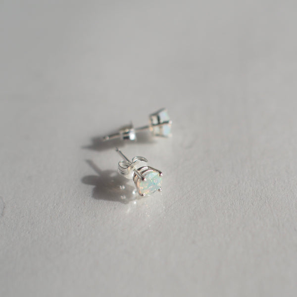 5MM Opal Stud Earrings