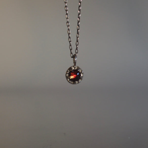 Garnet Pulsar Necklace
