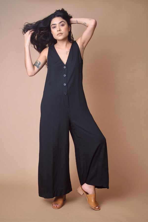 PRESALE Button Down Wide Leg Jumpsuit