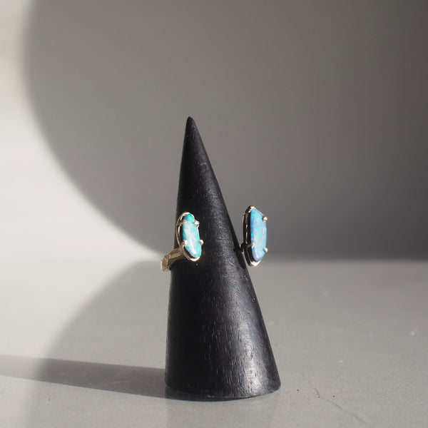 One of a Kind Floating Boulder Opal Ring