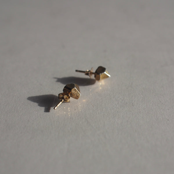 Gold Vermeil Crystal Cast Stud Earrings