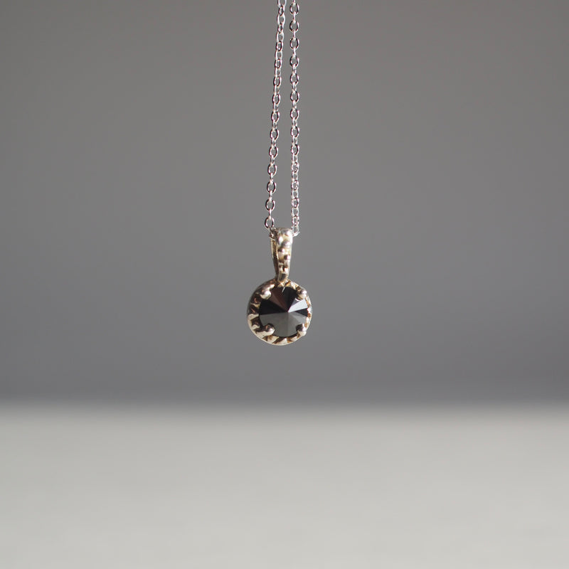 Matrix Halo Onyx Necklace