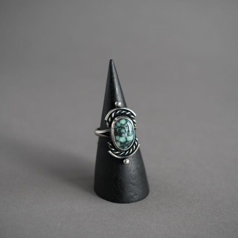 Posiedon Variscite Ring w/ Vertical Accents