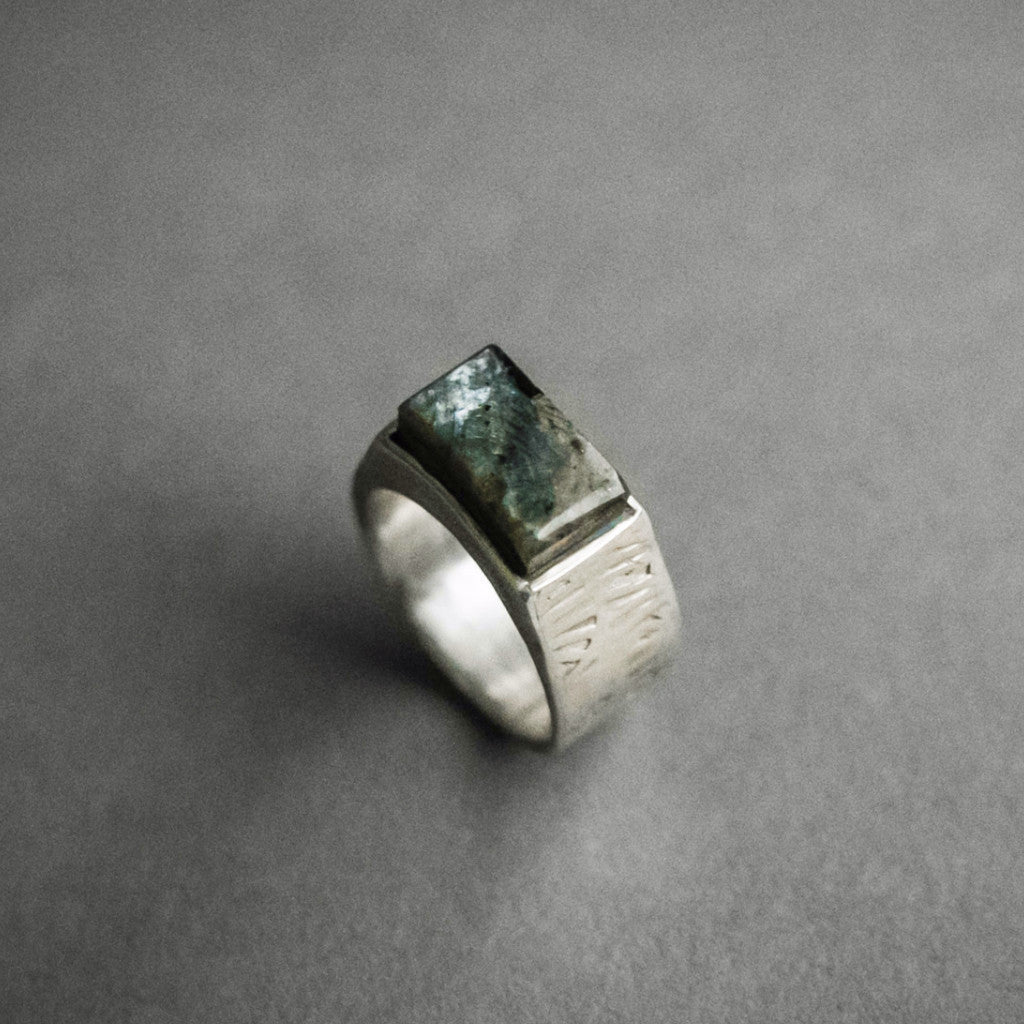 Labradorite Box Ring, Jewelry, Seapony Couture - Altar PDX