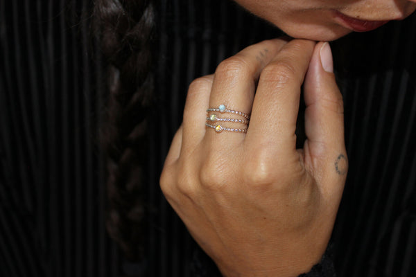 Stoned Stacking Ring