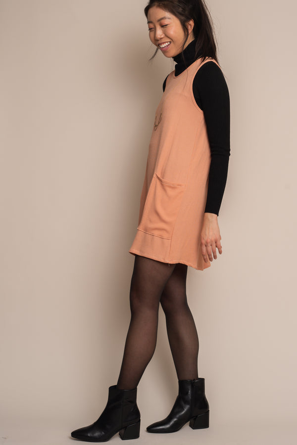 Terra Cotta Mini Pocket Shift Dress