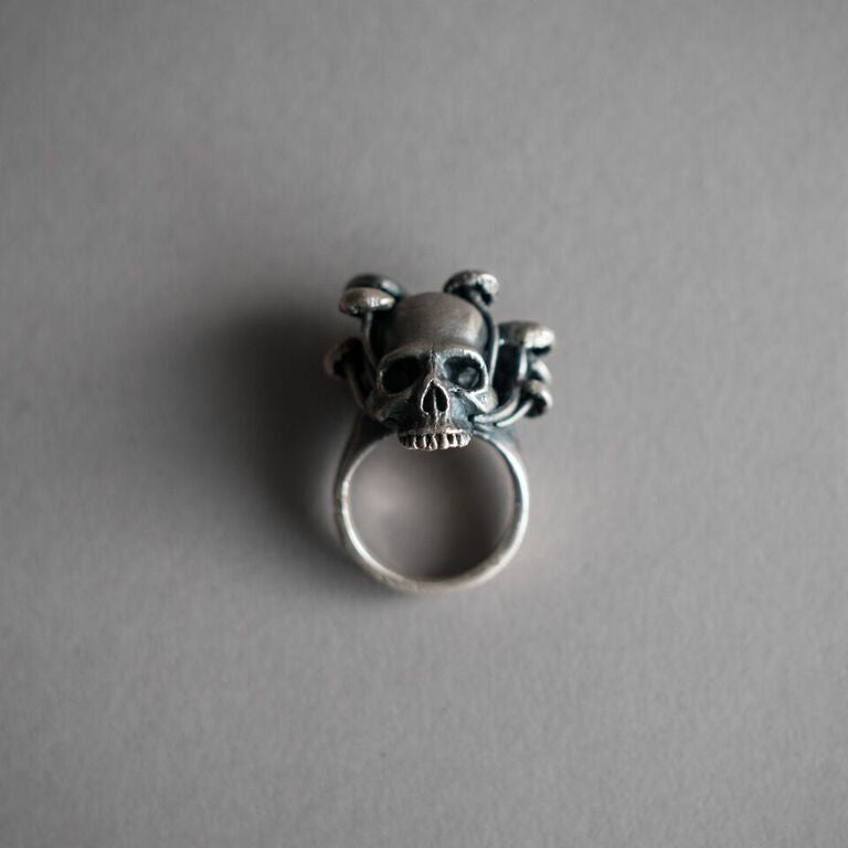 Large Skull and Mushroom Ring