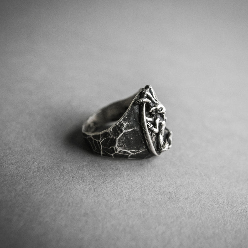 Baphomet Ring, Jewelry, Theeth - Altar PDX