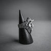 Theeth, Sterling Silver Devil Face Ring