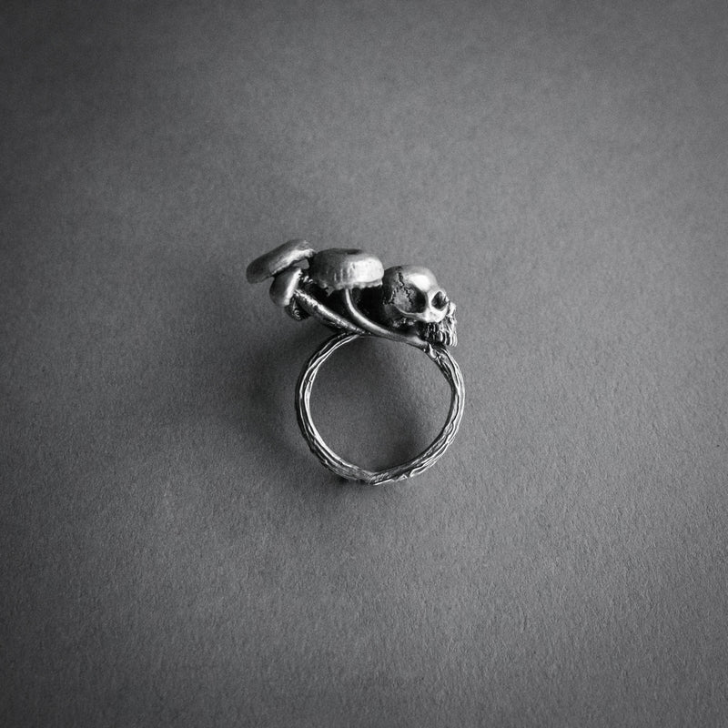 Theeth, Mushroom Patch Ring With Skull