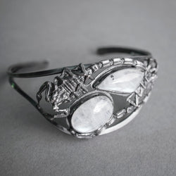 Scorpion and Moonstone Cuff Bracelet, Jewelry, Theeth - Altar PDX