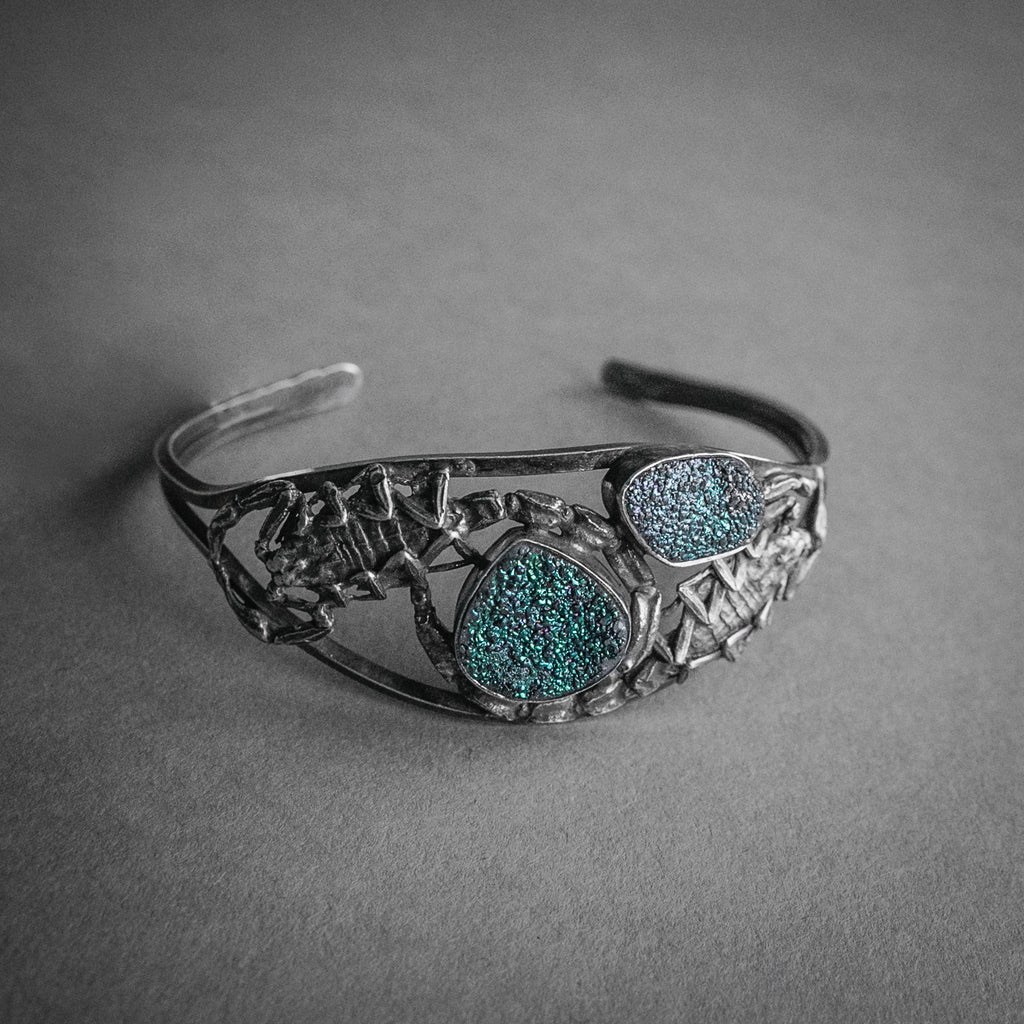 Theeth, Scorpion and Druzy Cuff Bracelet
