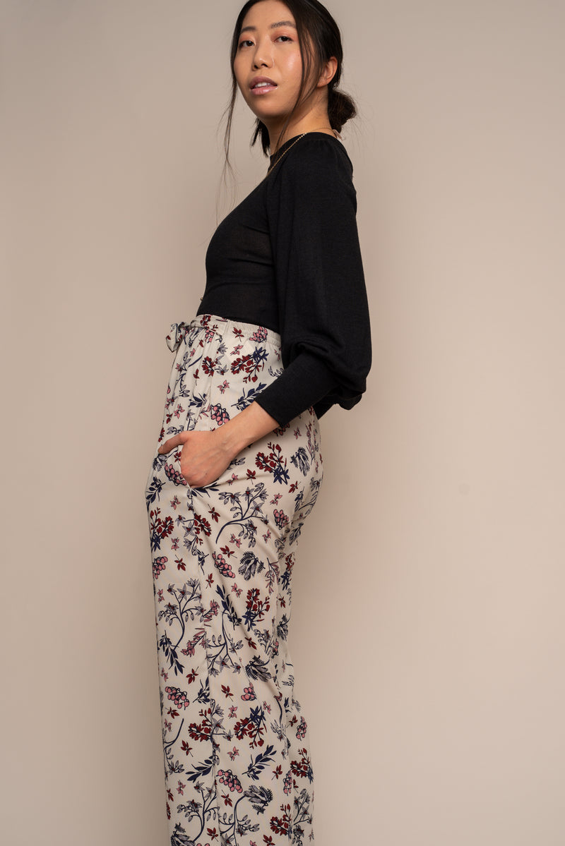 Winter Floral Palazzo Pant