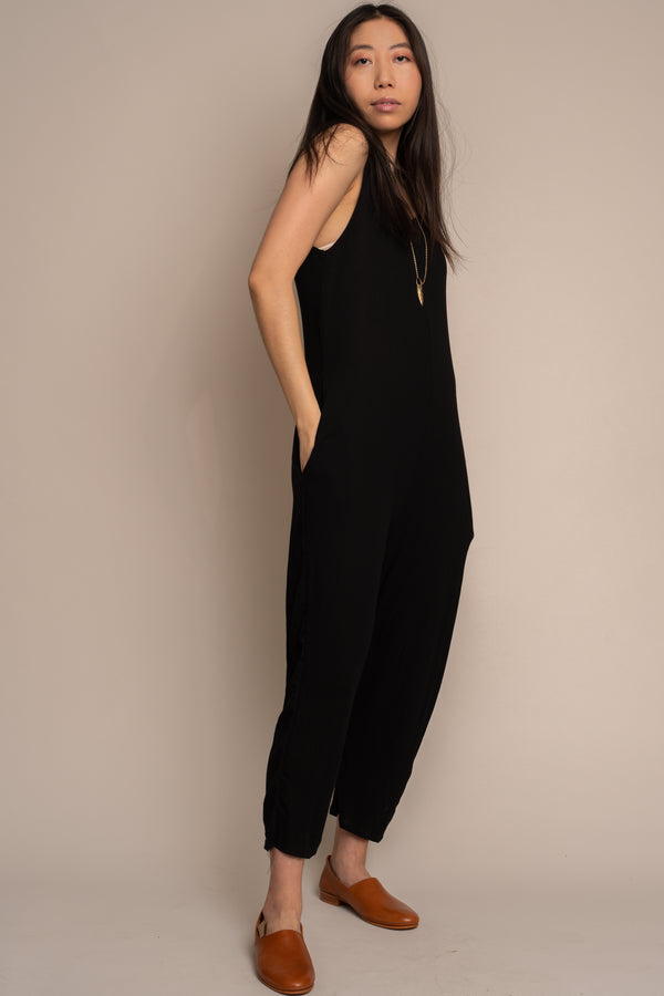 Black Crepe Houseline Jumpsuit