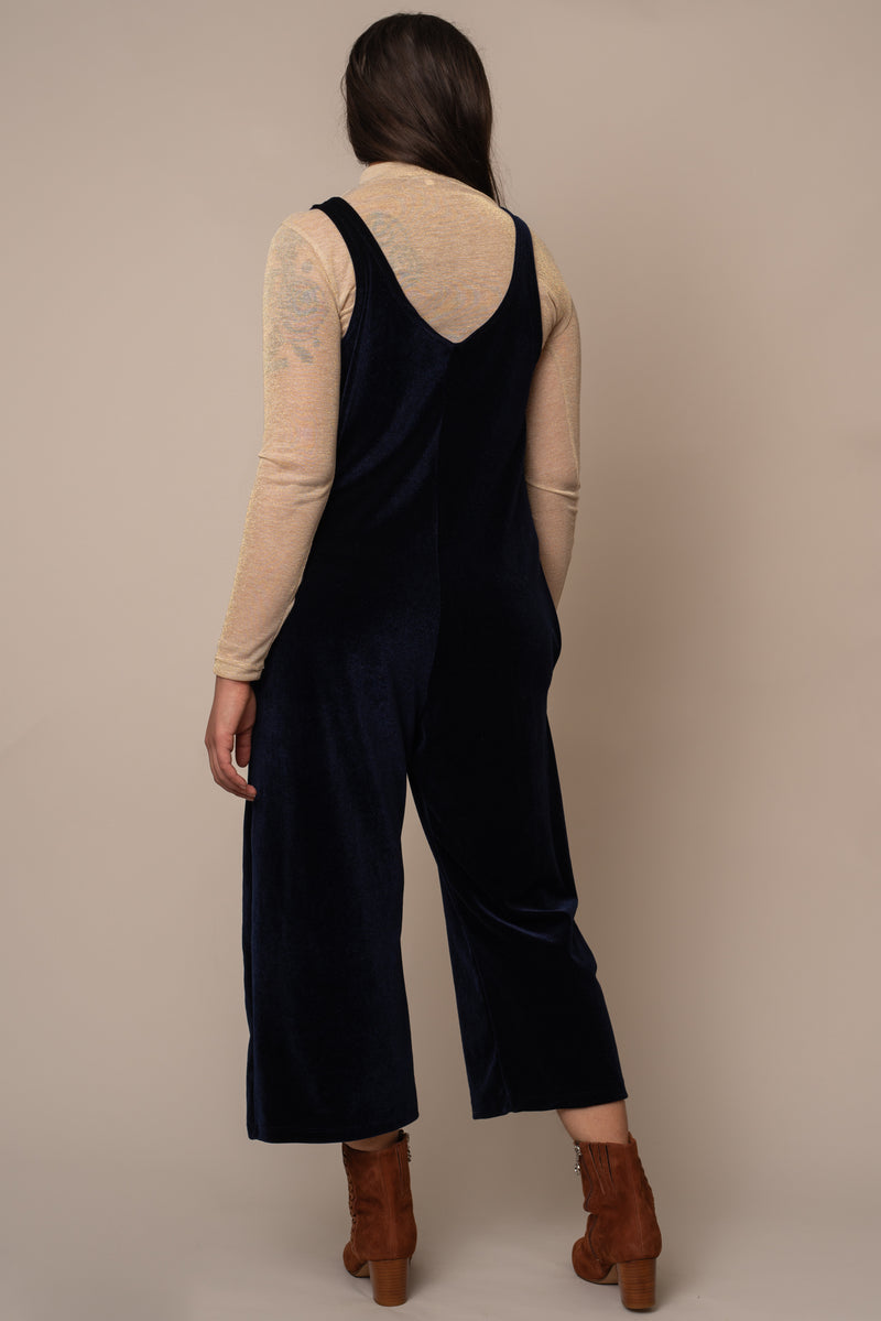 Blue Velvet Jumpsuit