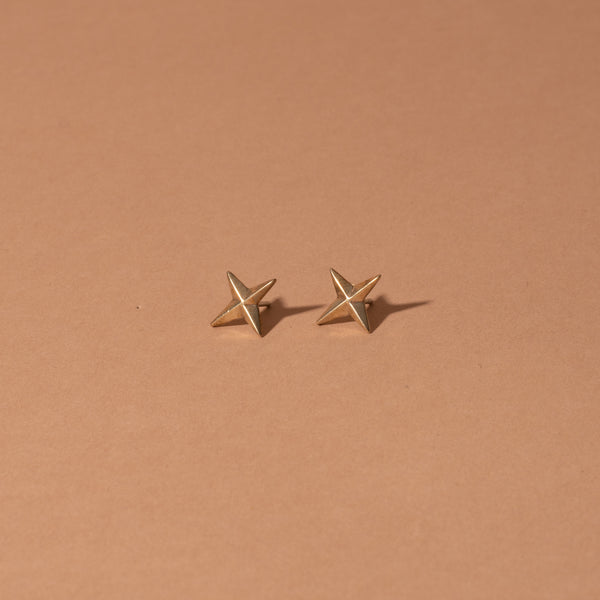 compass-stud-earrings-bronze