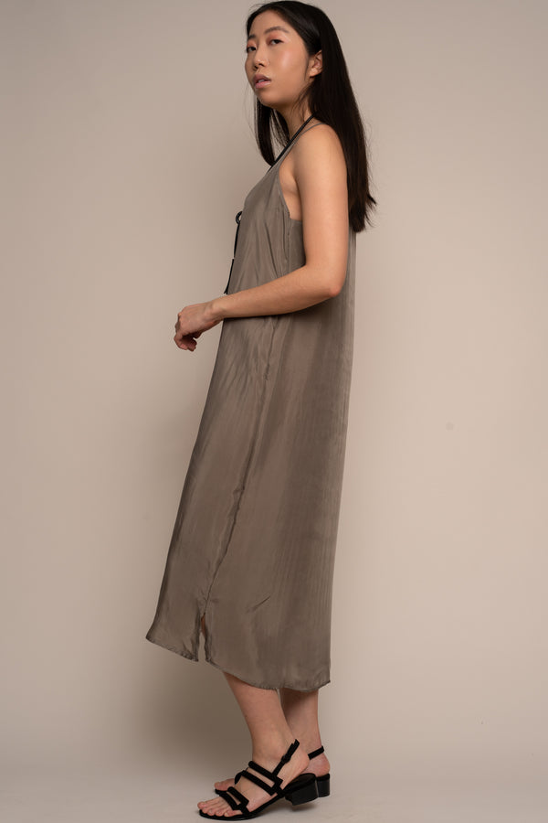 Ember Grey Silky Shift Dress