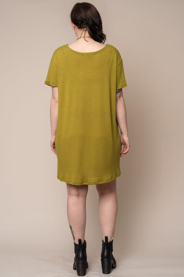 green-tshirt-dress
