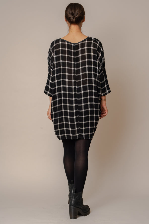 grid-woven-batwing-dress