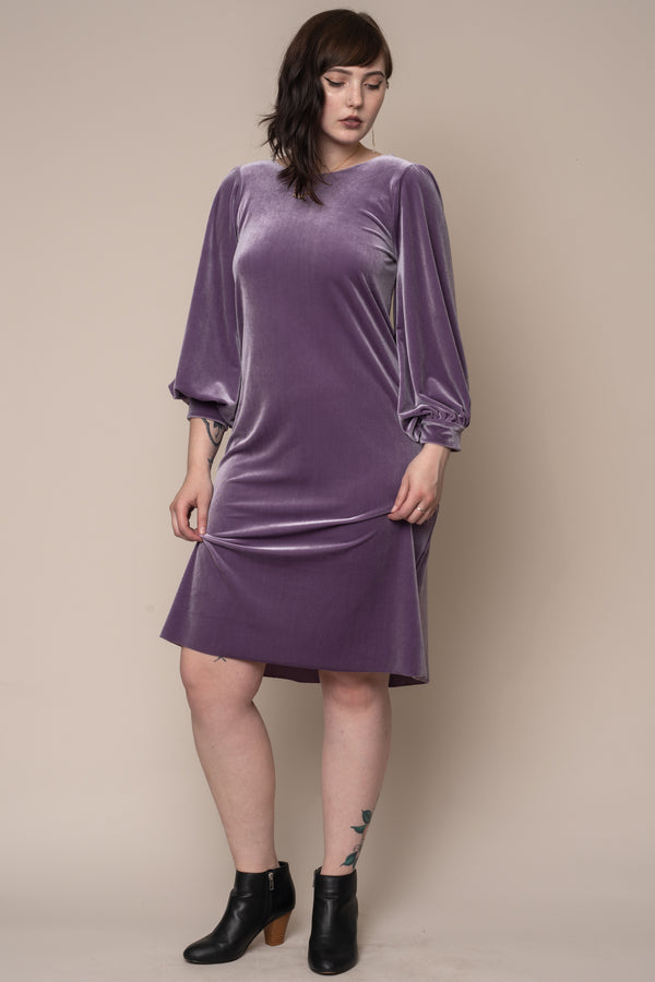Lavender-Bishop-Sleeve-Dress