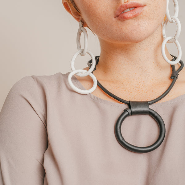 Leather Portal Necklace w/ Adjustable Length