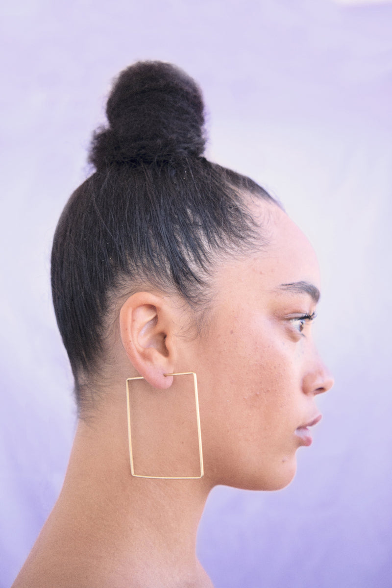 Square Hoop Earrings