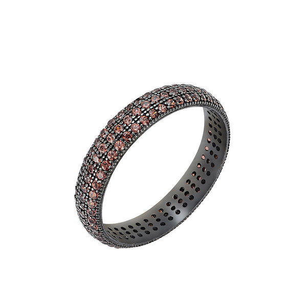 Eternity Band Ring (Smoky CZ)