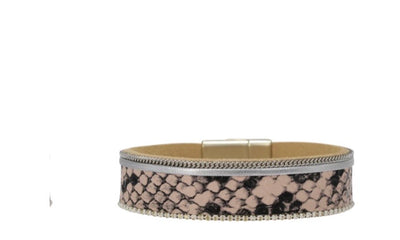 Magnetic cuff- snake & leopard