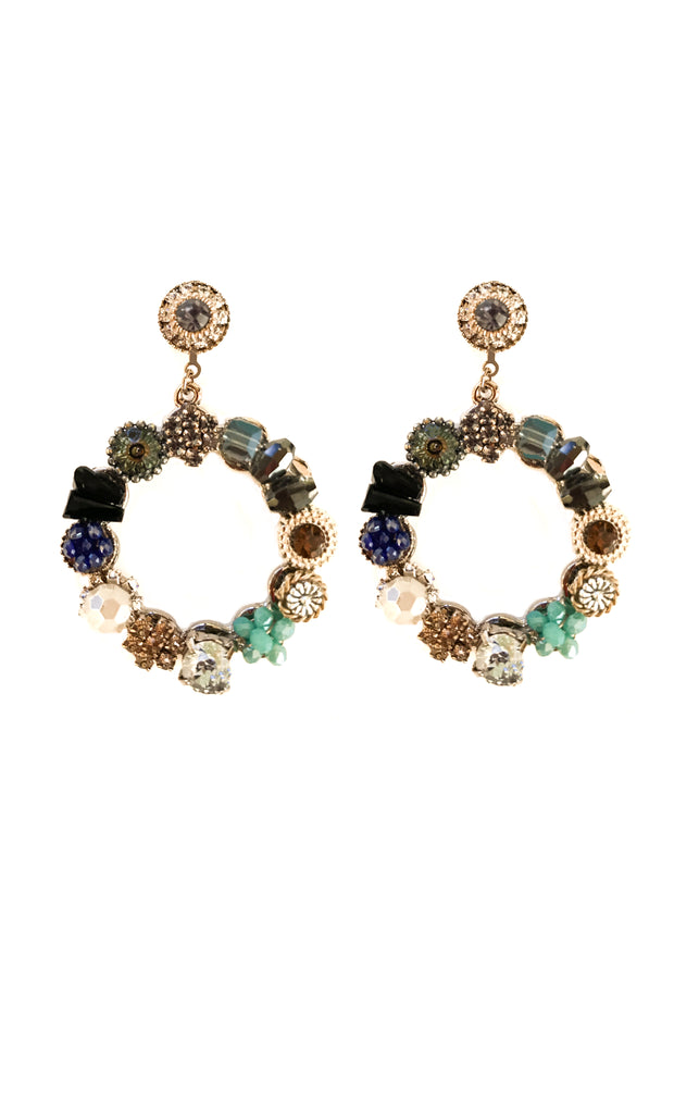 Circle of Gems Earrings