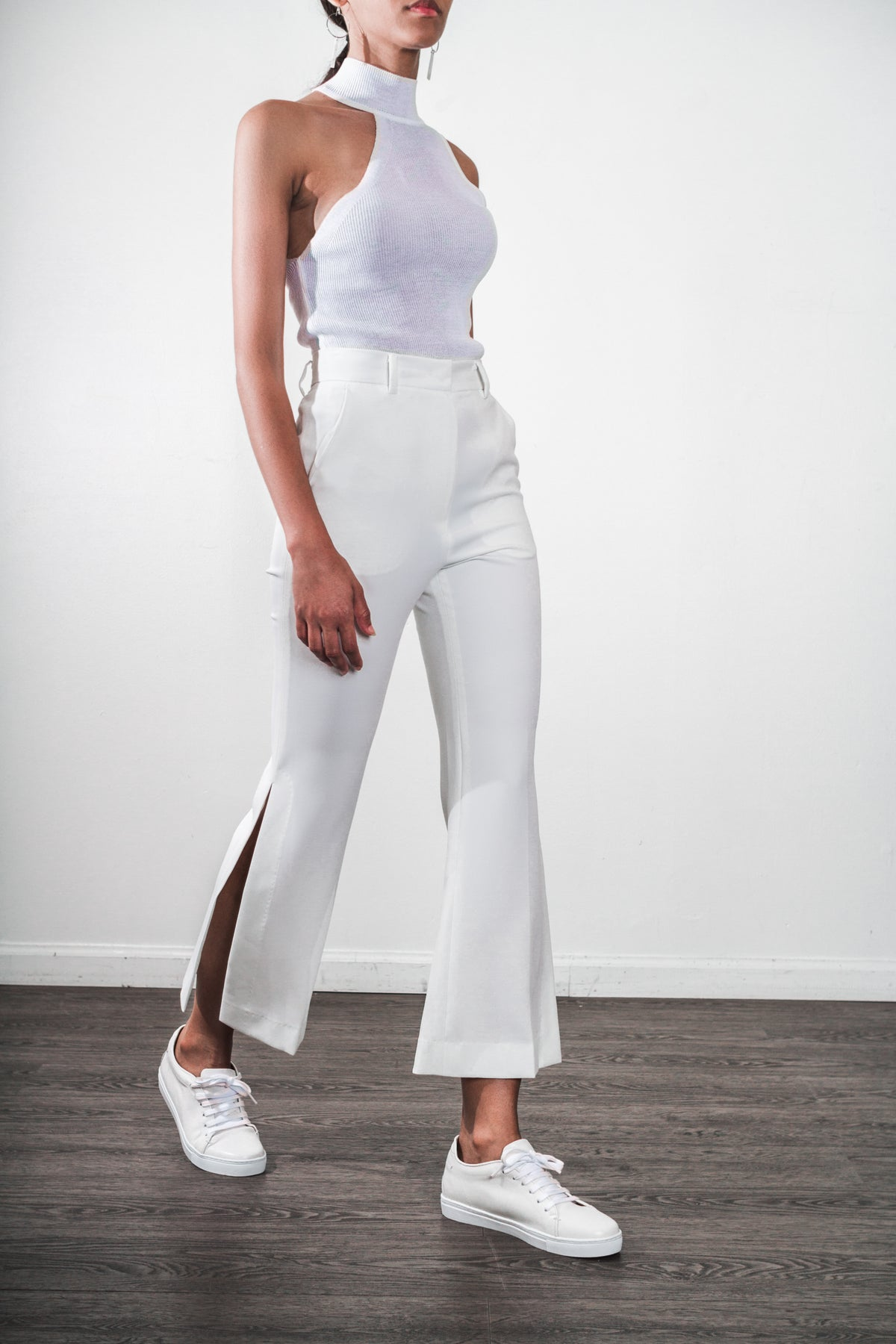 Flare Side Slit Slacks