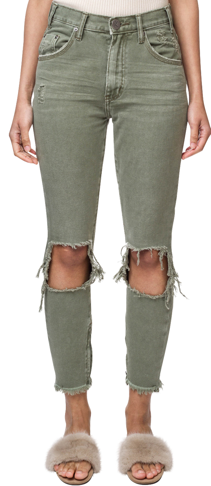 Super Khaki High Waisted Freebirds