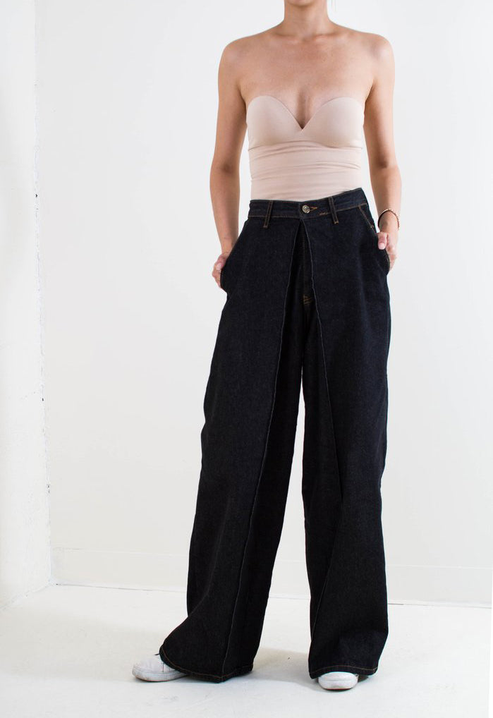 Clemente High-Waisted Denim Trousers