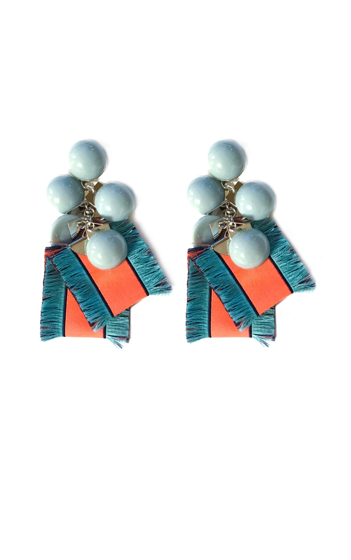 Neon Ribbon Earrings