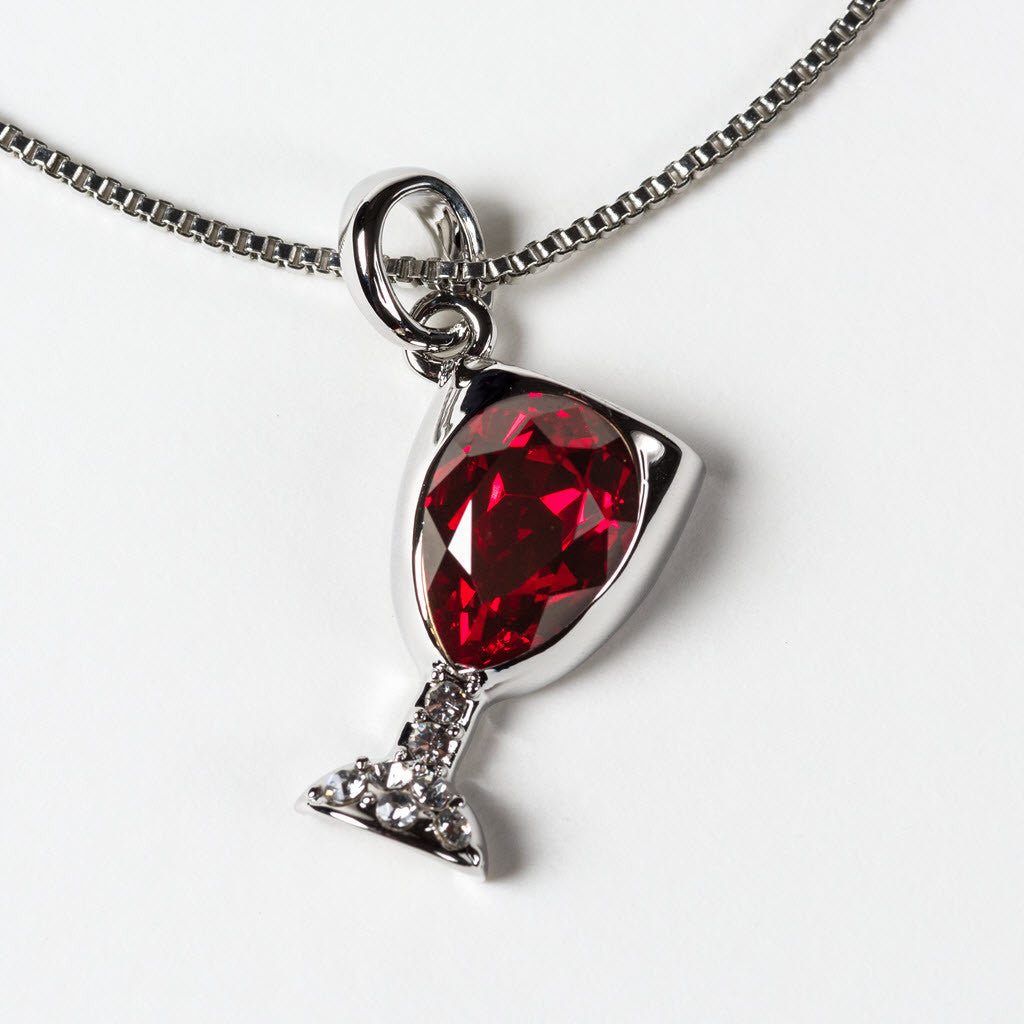 Red And White Wine Pendant Charm Set - Prefen Wine Gifts