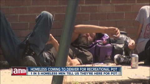 Homeless Coming to Denver for Recreational Weed News Story