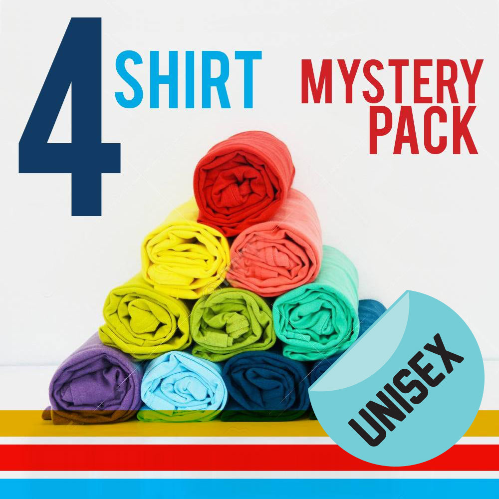 Unisex Four T-Shirt Mystery Pack - 4 FOR $36