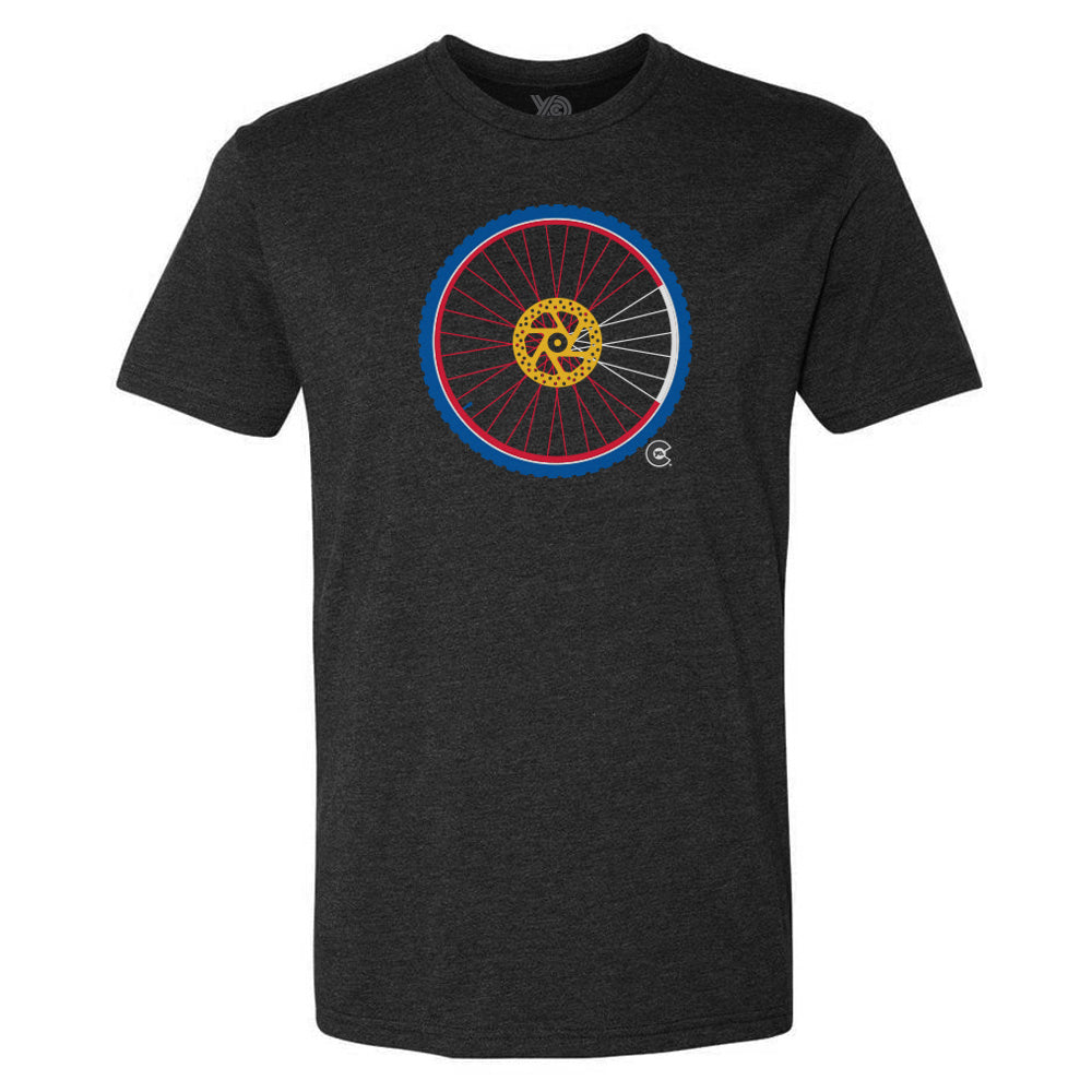 Men's Mountain Bike Wheel T-Shirt